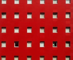 aesthetic, building, and red image