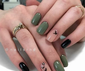 nails, bird, and girl image