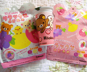 kawaii, rilakkuma, and food image
