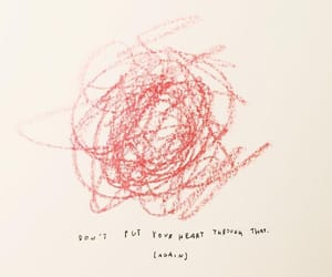 quotes, heart, and red image