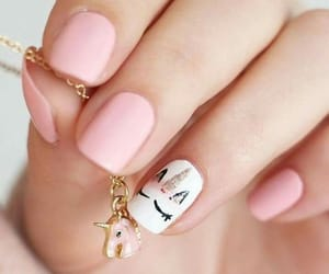 nails, unicorn, and pink image