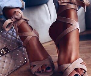 beige, brown, and heels image