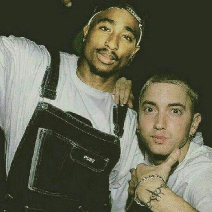 eminem, slim shady, and tupac image