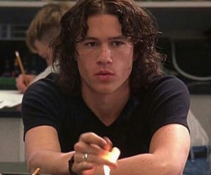 heath ledger, 10 things i hate about you, and fire image