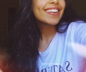 black hair, smiling, and white image