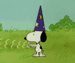 cartoon, gif, and snoopy image