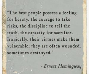 quotes, beauty, and ernest hemingway image