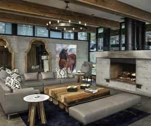 design, interior, and concrete image