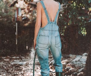 good day, overalls, and country girl image