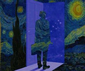 starry night and vincent van goh image