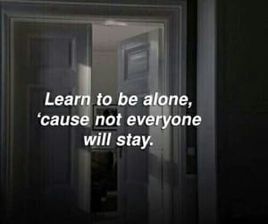 quotes, alone, and sad image
