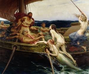 mermaid, art, and painting image