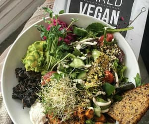 vegan, food, and healthy image