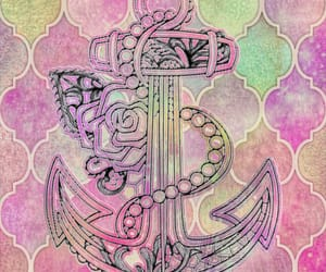 anchor, floral, and graphic design image