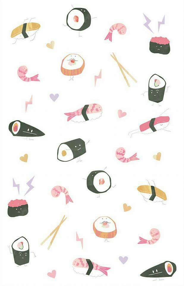 Wallpaper Sushi Shared By Lau Galeana Ardelean