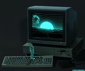 computer, green, and loop image