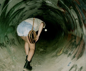 indie, tunnel, and fashion image