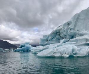 glacier, iceland, and iceberg image