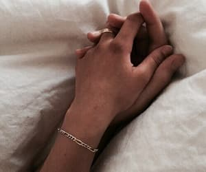 couple, romance, and hands image