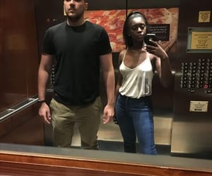 couples, interracial, and black girls image