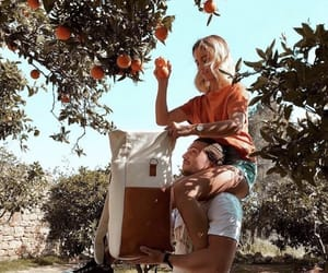couple, Relationship, and oranges image