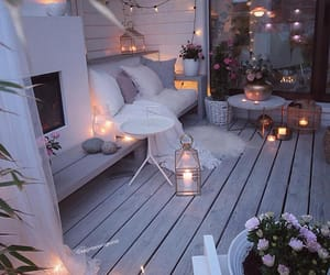 balcon, balcony, and Blanc image