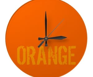 clock, orange, and time image