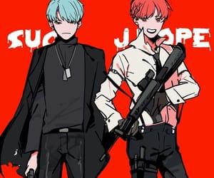 art, fanart, and gun image