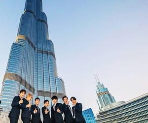 Dubai, exo, and burj khalifa image