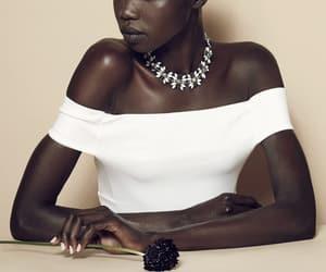nykhor paul, black model, and dark skin image