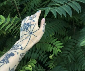 hand, natural, and tattoo image