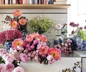 flowers, home, and books image