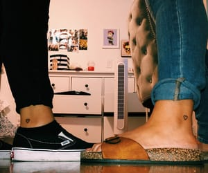 best friends, heart tattoo, and sisters image