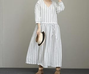 etsy, white dress, and maxi dress image