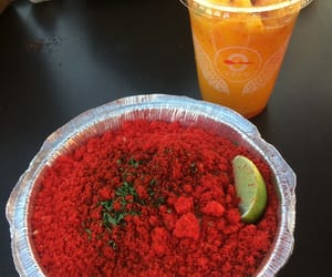 hot cheetos, elote, and mangonada image