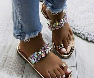ankle, diamond, and polish image