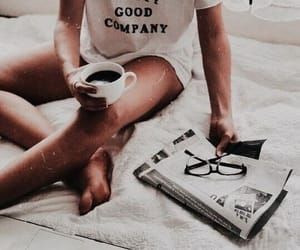 bed, coffee, and morning image