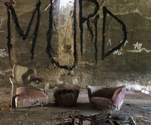 creepy, dark, and living room image