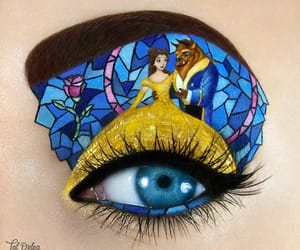 beauty and the beast, disney, and makeup image