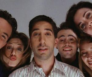 friends, chandler bing, and ross geller image