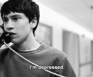 depressed, black and white, and boy image