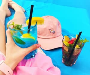 arms, cap, and drink image