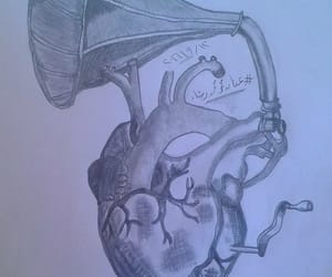 drawing, heart, and hearts image
