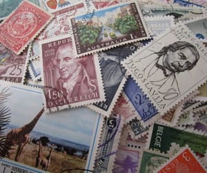 etsy, stamp collection, and vintage postage image