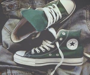 converse, green, and shoes image