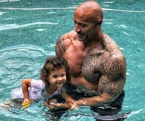 Dwayne Johnson, the rock, and jasmine lia johnson image