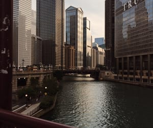 chicago, trump tower, and river walk image