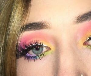 eyeshadow, makeup, and gay pride image