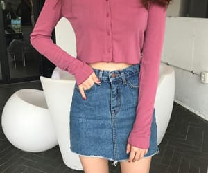 clothes, pink, and skirt image