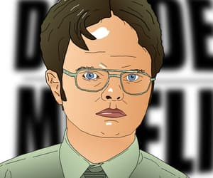 dwight schrute, funny caricature, and subtle caricature image